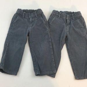 Twin HA gray corduroy pants